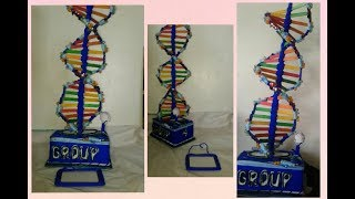 Tips and Tricks(DNA project model)HOW TO MAKE DNA STRUCTURE MODEL..STEP BY STEPscience