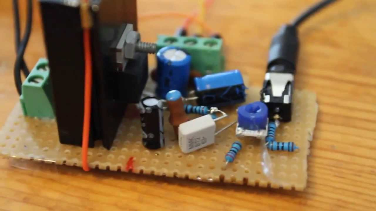 LM1875 20W audio amplifier veroboard sound test