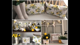 QUICK EASY DOLLAR TREE LEMON🍋 DIYS TO CHANGE OUT YOUR DECOR 2019
