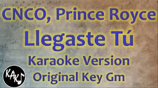 Cnco Prince Royce Llegaste T Karaoke Instrumental Lyrics Cover Original Key Gm.mp3
