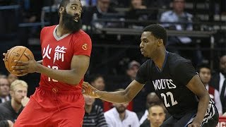 James Harden vs Andrew Wiggins Full Highlights 2015.02.23  - NASTY 61 Pts Combind!!
