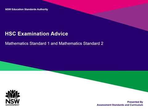HSC Exam Advice  -  Mathematics thumbnail