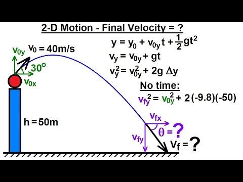 Physics - Mechanics: Projectile Motion (28 of 31) 2-D ...