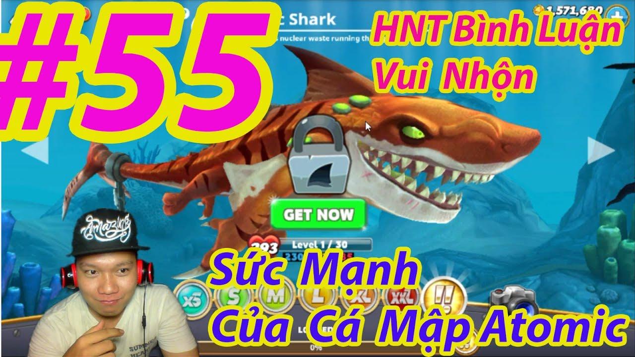 trò chơi cá mập ăn cá nhỏ cá lớn nuốt cá bé HNT chơi game #5 hungry shark evolution game new 55