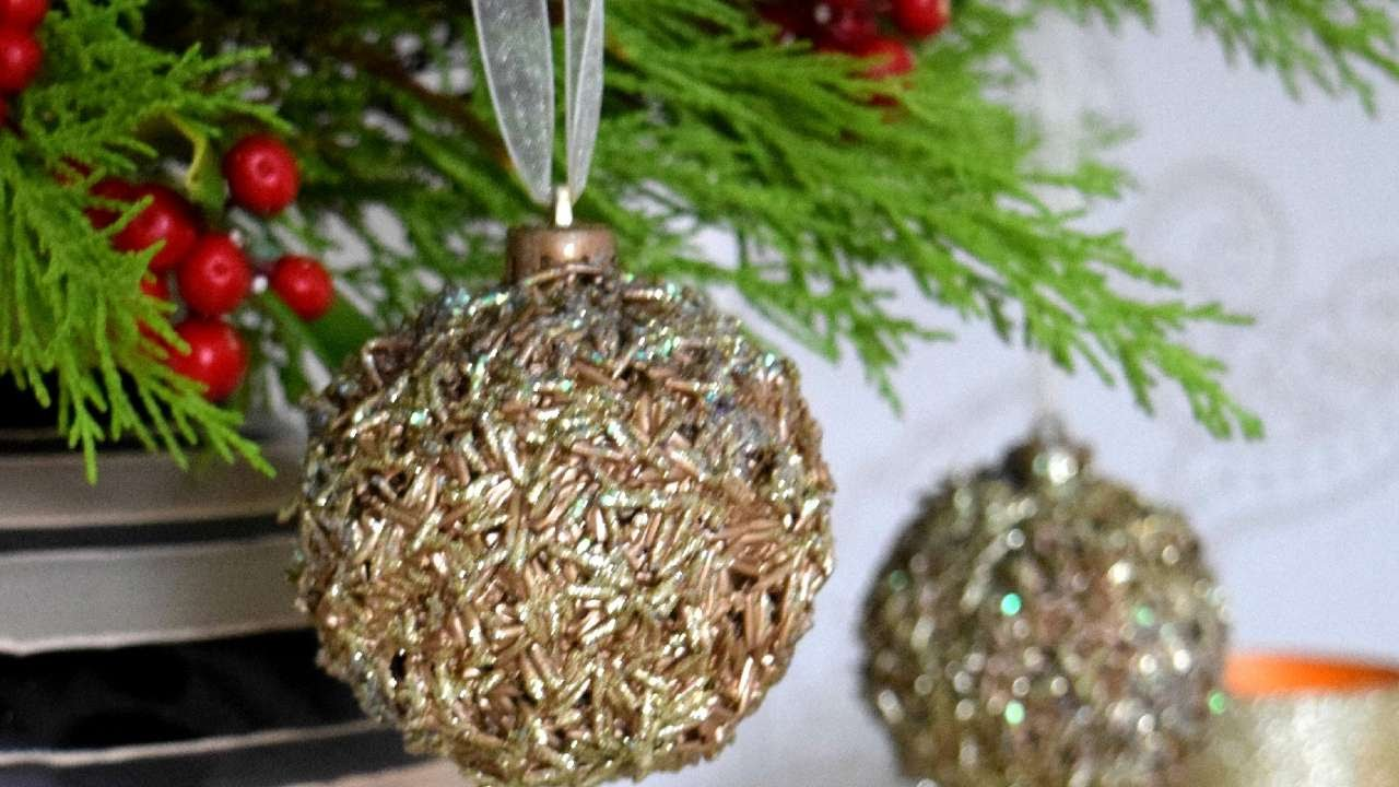Old Christmas Decorations.How To Turn Old Decorations Into A New Ornament Diy Home Tutorial Guidecentral