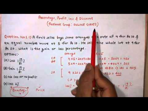 percentage profit loss and discount 2