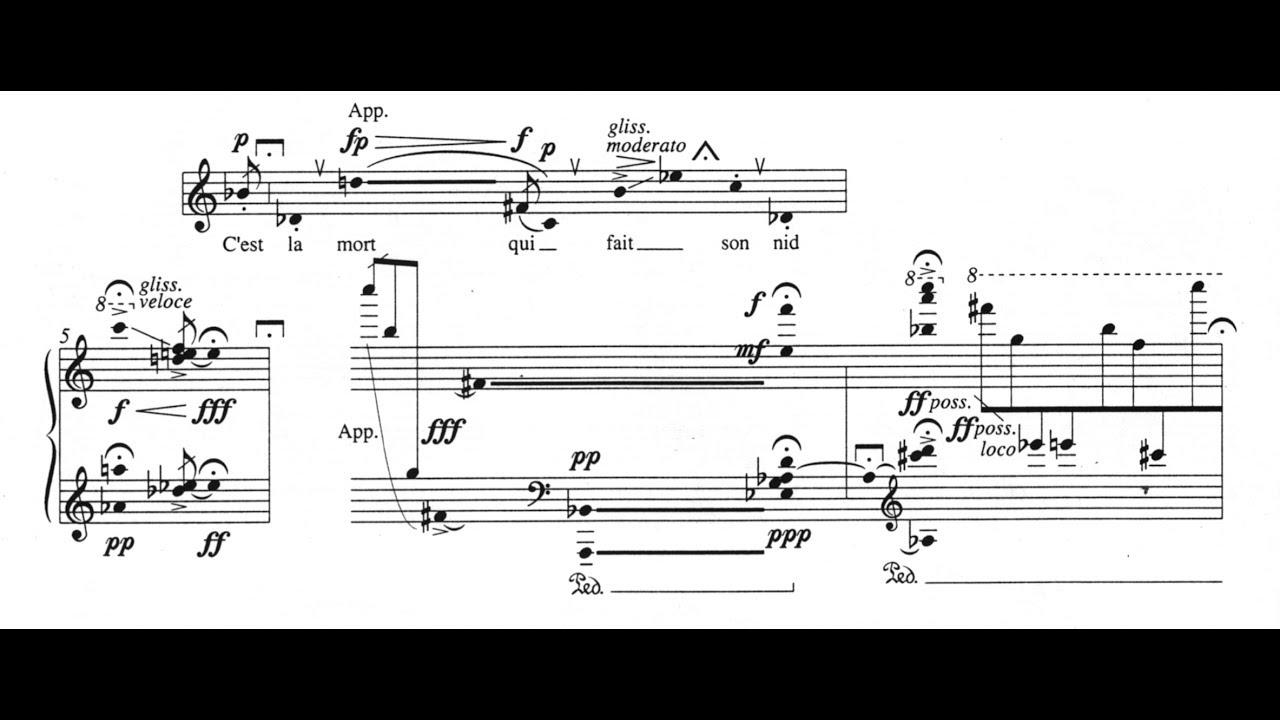 Serge Garant Cage Doiseau 1962 Pour Soprano Et Piano Sur Un Poème De Saint Denys Garneau