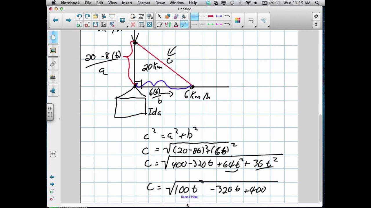 Optimization Minimum Distance Grade 12 Calculus Lesson 3 3 718 – Calculus Optimization Worksheet