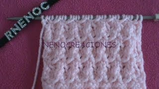 Repeat youtube video COMO TEJER PUNTO PALOMA FANTASIA VARIACION 1, DOS AGUJAS PALILLOS TRICOT