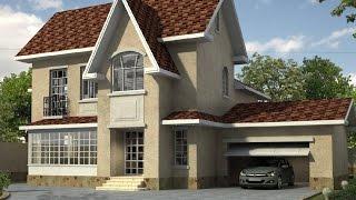видео Типовой проект дома с мансардой и гаражом  B-072-ТП