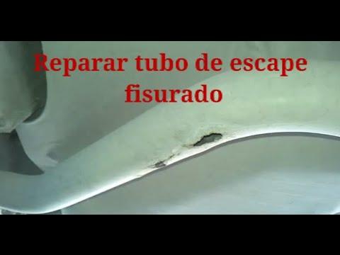 Reparaci n de agujero fuga en tubo de escape sin - Como tapar el gotele sin quitarlo ...