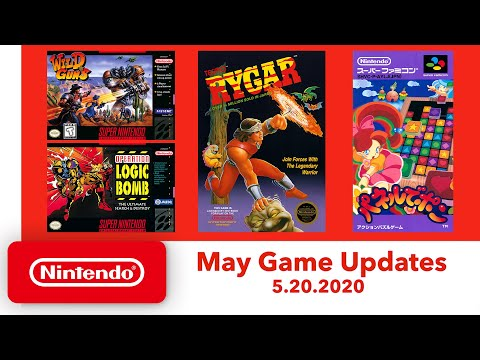 Nes & super nes - may game updates - nintendo switch online