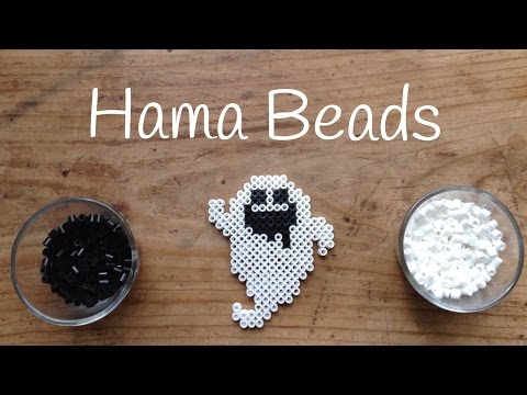 Cómo hacer un fantasma para Halloween con hama beads