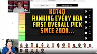 Reacting To KOT4Q Ranking Every NBA First Overall Pick Since 2000 Tier List