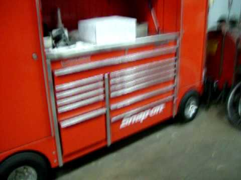 FANCY SNAP ON TOOL BOX WITH CHROME WHEELS