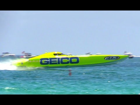 Miss Geico World Champion Offshore Racing Boat, Miami Beach Air Show, 2017