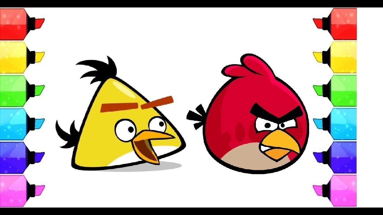 Imparare I Colori Colorando Gli Uccelli Arrabbiati L Angry Birds