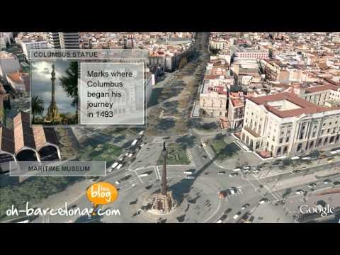 Barcelona 3D video - A virtual tour of Barcelona