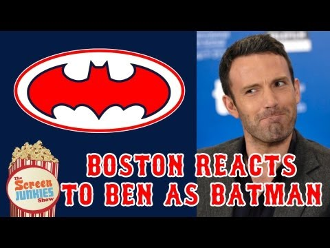 Ben Affleck as Batman Boston Fans React Movie Poster