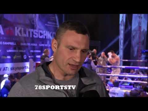 VITALI KLITSCHKO WANTS ANTHONY JOSHUA FIGHT