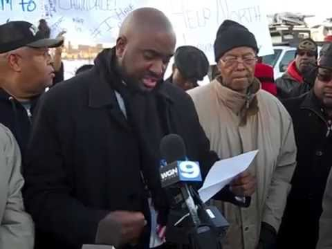 North Lawndale Residents rally for Obama Presidential Library on West Side