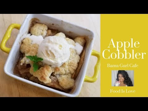 Homemade Apple Cobbler For Two