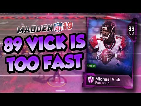 Madden 19 Ultimate Team :: 89 Legend Vick is TOO FAST :: Madden 19 Ultimate Team