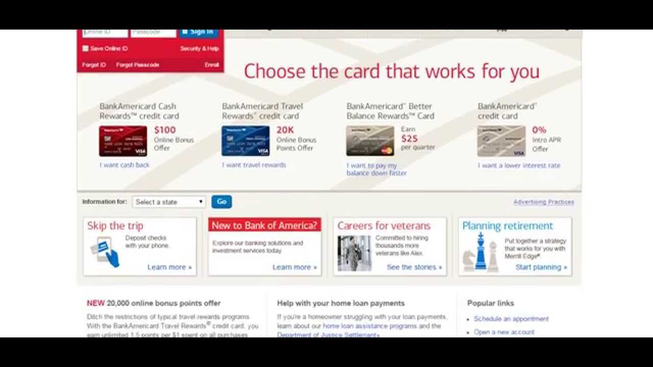 Personal Loans Bank Of America Requirements - YouTube
