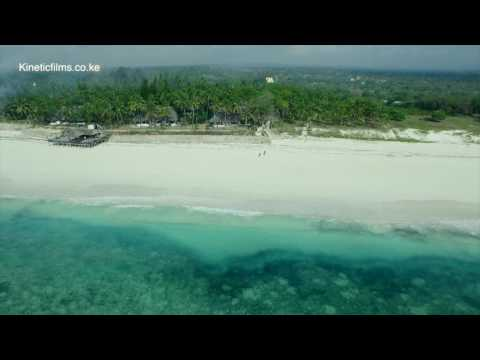 AERIAL VIEW  OF THE KENYAN BOFA BEACH- KILIFI