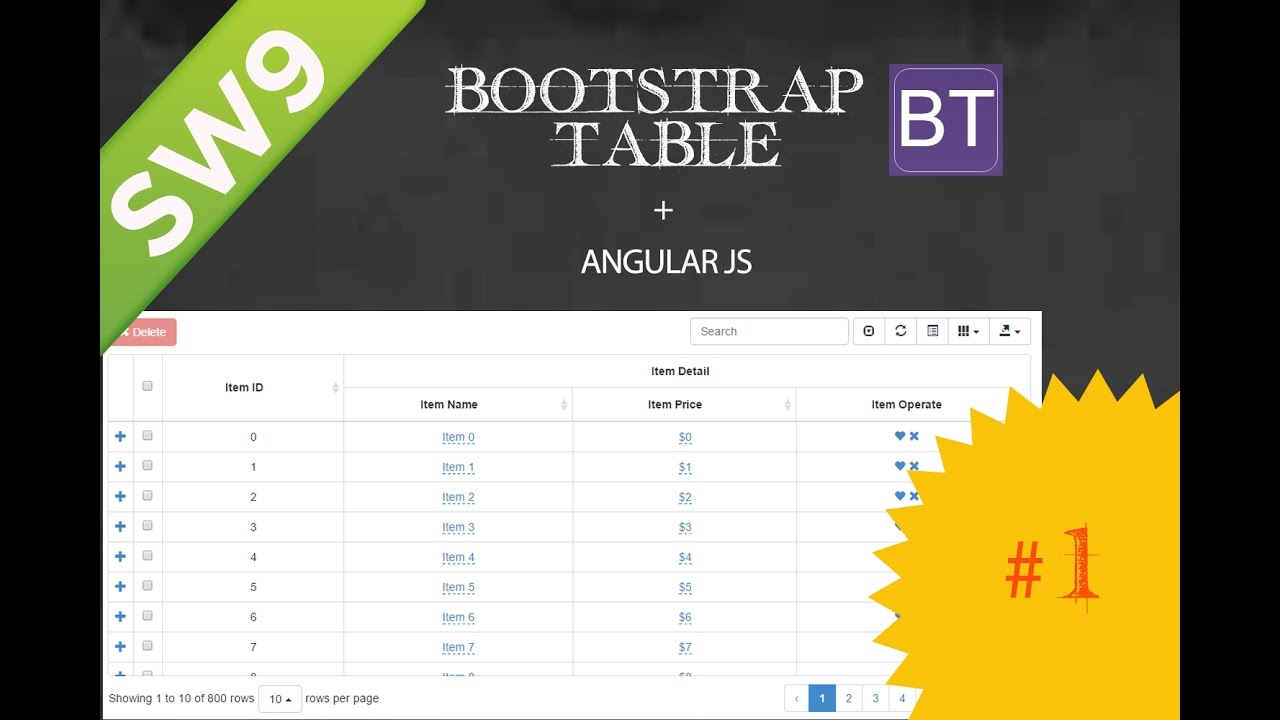 GRID - BootStrap Table com Angular JS - Parte 1