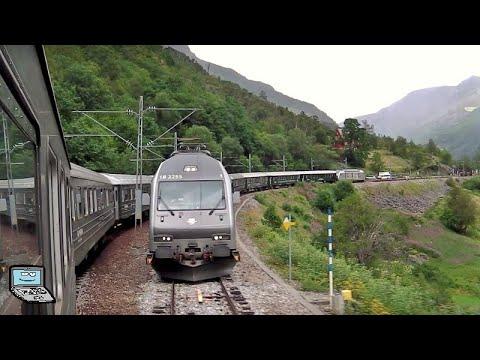 Die Flåmbahn - Bahnhof Flåm, Gesamtstrecken-Mitfahrt, Wasserfälle, Zug-Makros, Norwegens Natur Pur!