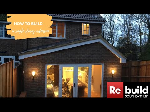 Single storey pitched roof extension