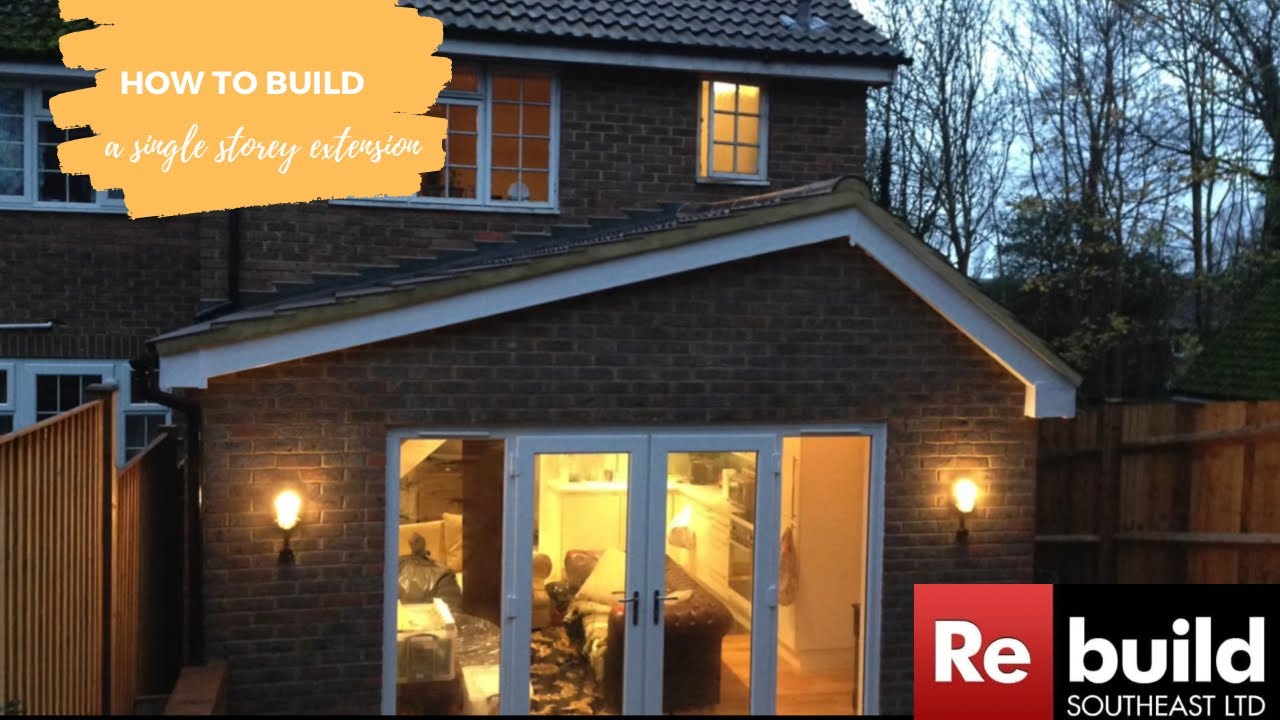 Single Storey Pitched Roof Extension Youtube