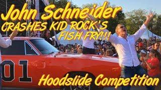 JOHN SCHNEIDER CRASHED KID ROCK'S GENERAL LEE HOOD SLIDE COMPETITION!!! (CM40 Vlog)