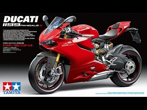 tamiya ducati panigale 1199 s, pre build in box review - youtube