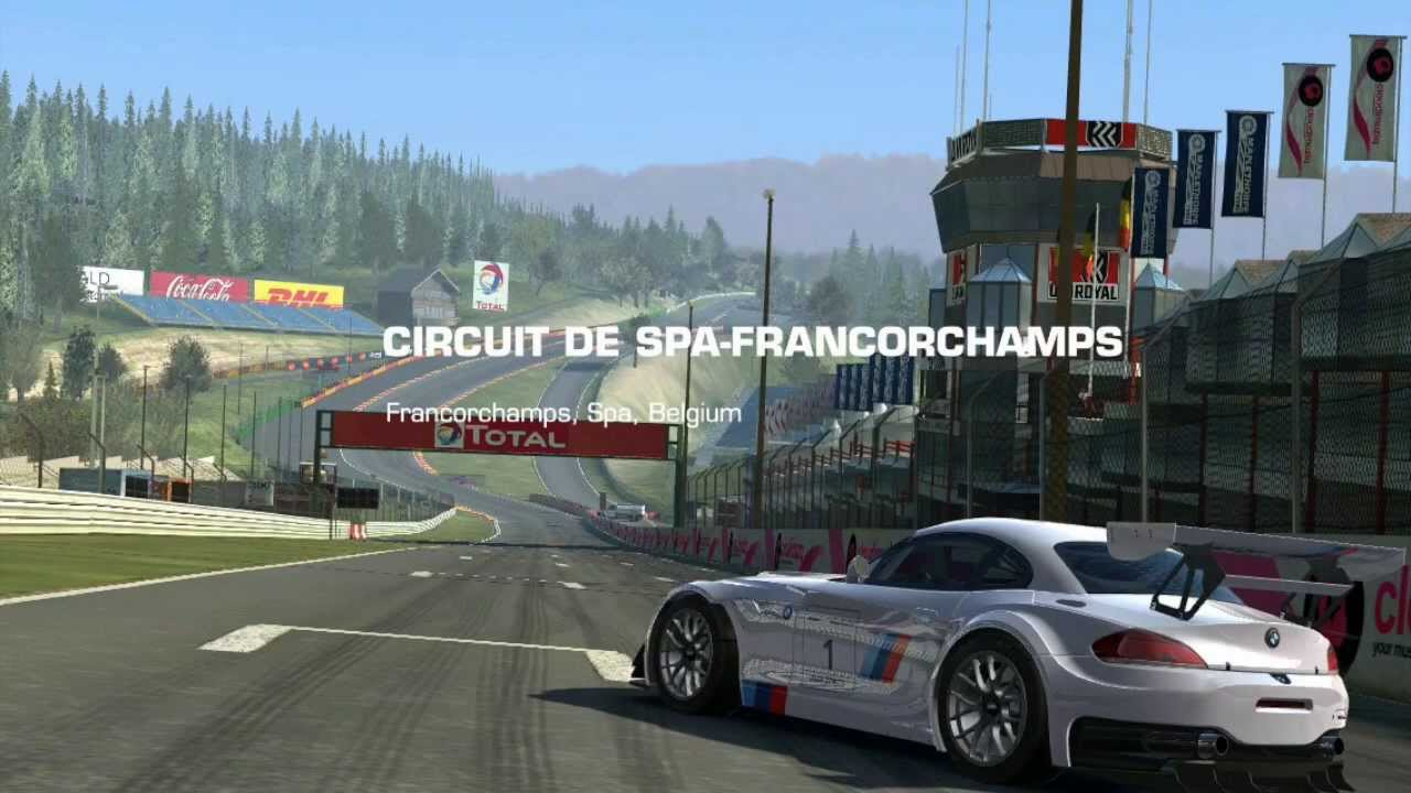 real racing 3 bmw z4 gt3 circuit de spa francorchamps driving line tutorial youtube. Black Bedroom Furniture Sets. Home Design Ideas