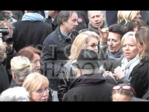 Loulou de la Falaise's Funeral with Catherine Deneuve, Kenzo, Arielle Dombasle