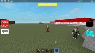 Destroying noobs as Iron Man in .S.H.T. Roblox