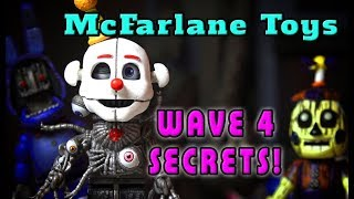 FNAF Mcfarlane Toys - TOP 5 WAVE 4 Secrets! Five Nights at Freddy's LEGO Ennard Scooping Room