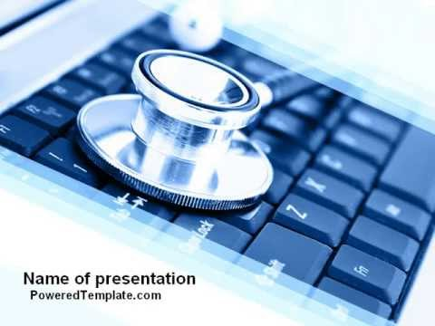 Medical Records In Electronic Form PowerPoint Template by