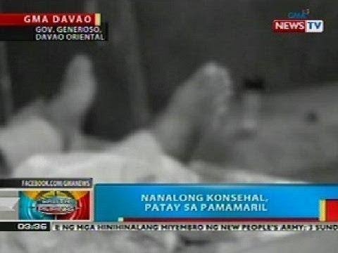 BP: Nanalong konsehal sa Gov. Generoso, Davao Oriental, patay sa pamamaril