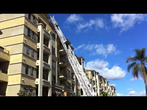 Firefighters Climb Fire Truck Ladder - Johnny Cash & Ivan Ulz