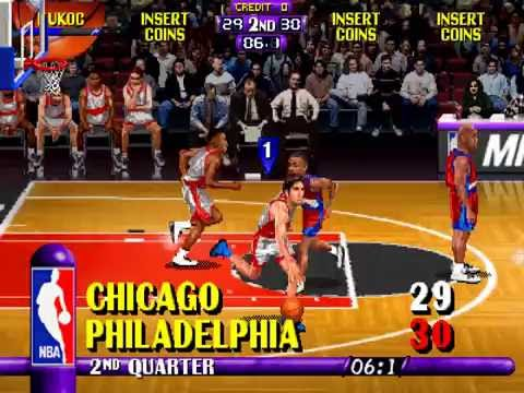NBA Maximum Hangtime (Arcade), Gameplay (Chicago Bulls VS Philadelphia 76ers)