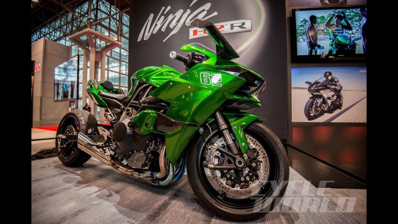 Kawasaki Ninja H2 Drag Bike And Ricky Gadson At Nyc Motorcycle