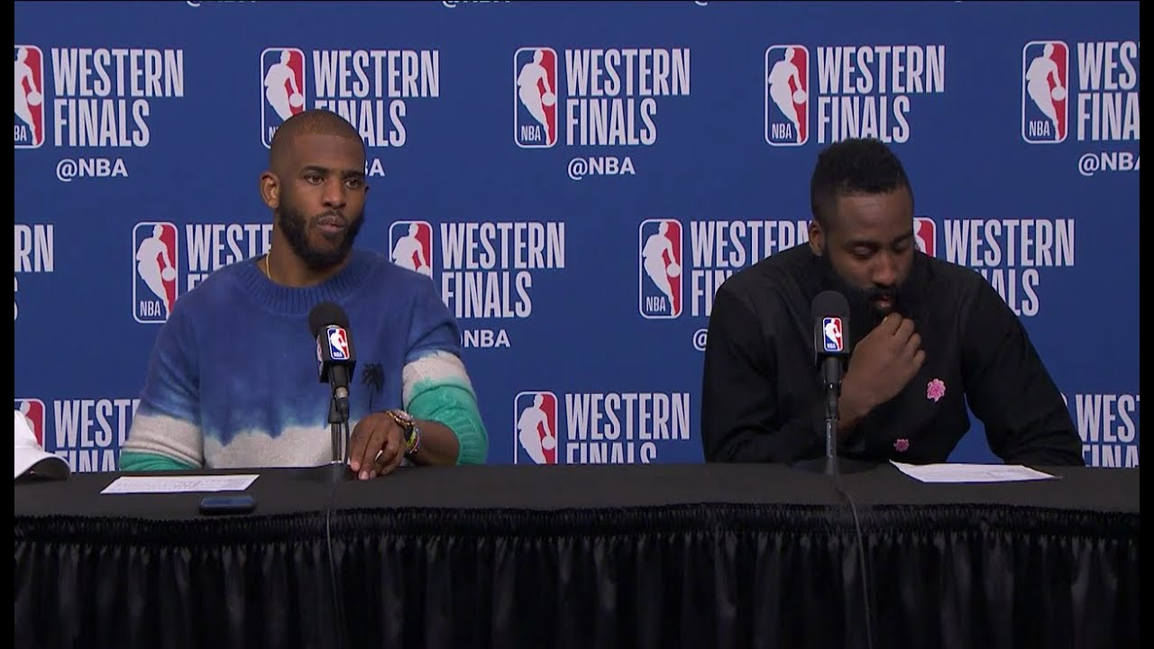 c41900bfdca Chris Paul   James Harden Postgame Interview - Game 1