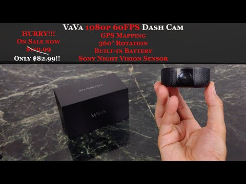 VAVA Dash Cam With GPS, 1080p And It Rotates 360 Degrees!