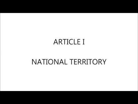 Article I | National Territory