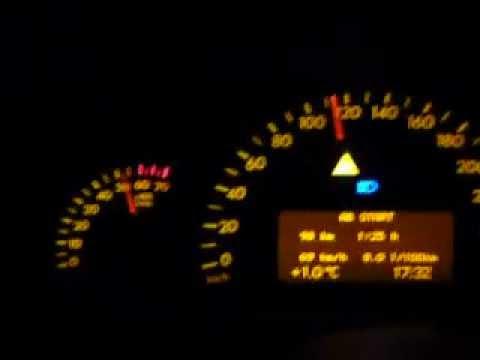 mercedes benz c180 w203 acceleration 0-100 - youtube