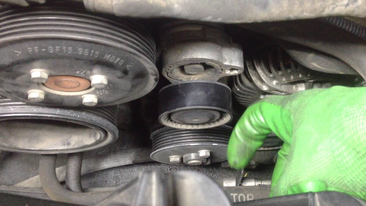 bmw e65 e66 how to change your serpentine belt [ 1280 x 720 Pixel ]