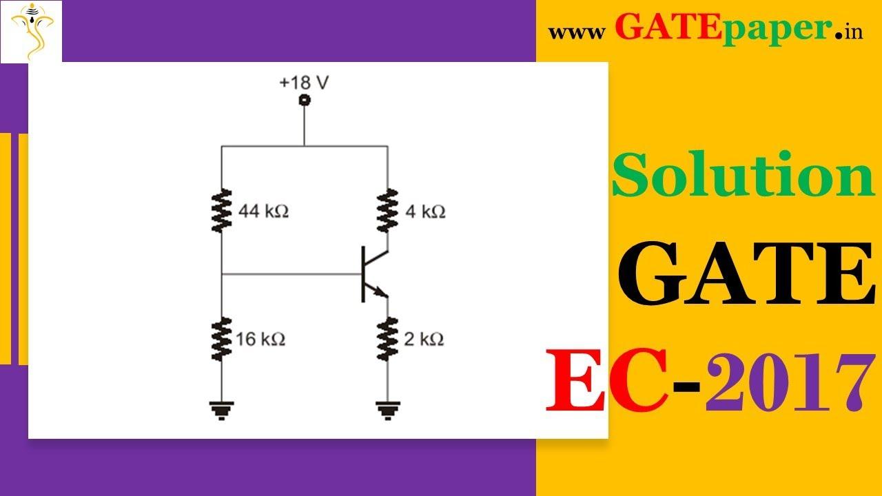 gate 2017 find the value of collector to emitter voltage vce youtube. Black Bedroom Furniture Sets. Home Design Ideas